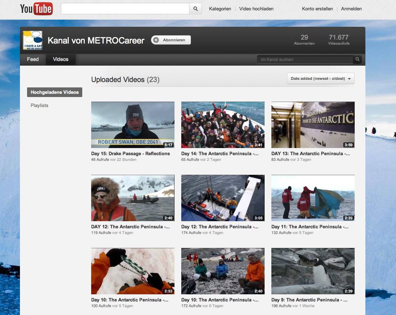 Metro Group Karrierechannel auf Youtube