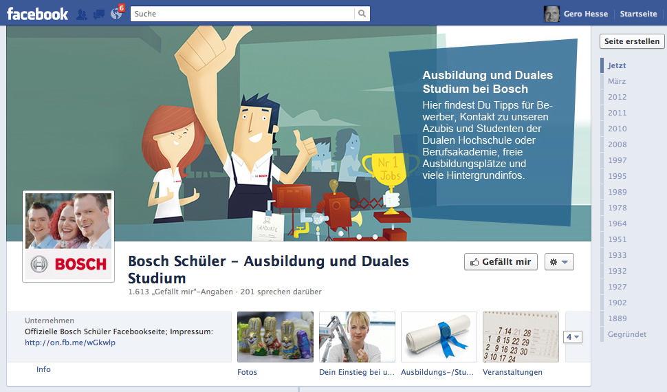 Bosch Schüler facebook Site