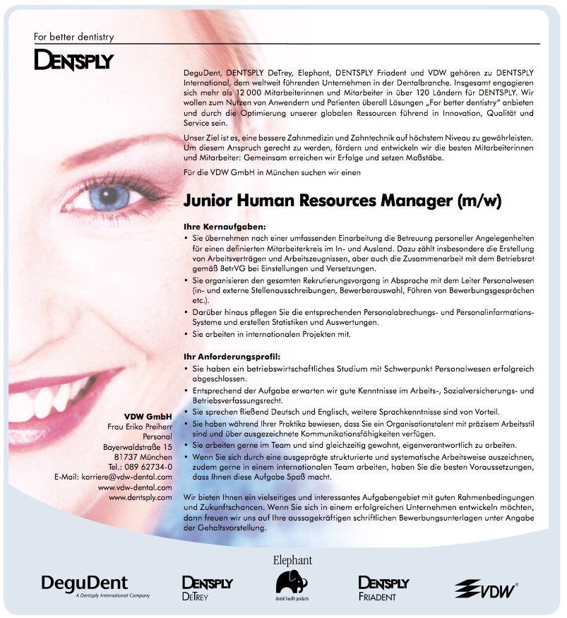 Jobangebot bei VDW
