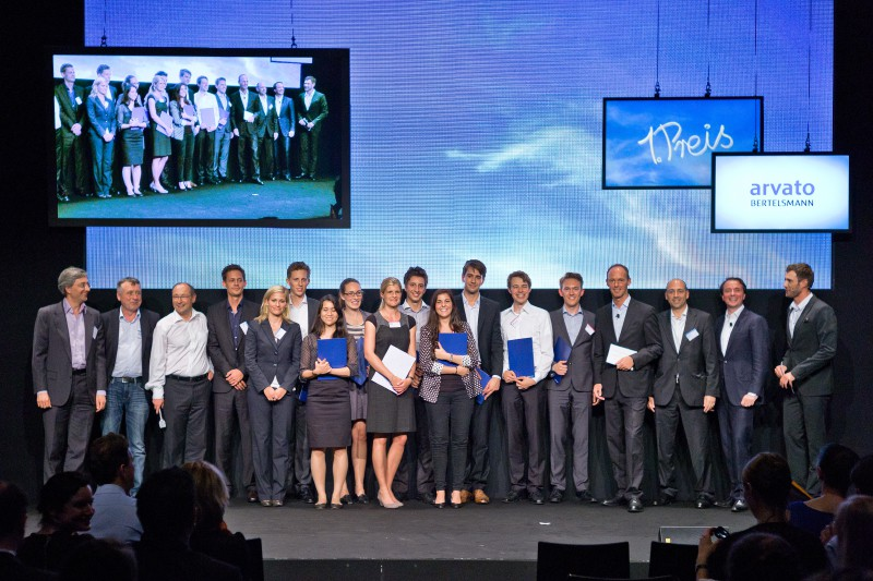 """Das 2012er Sieger Team von """"Talent Meets Bertelsmann"""""""