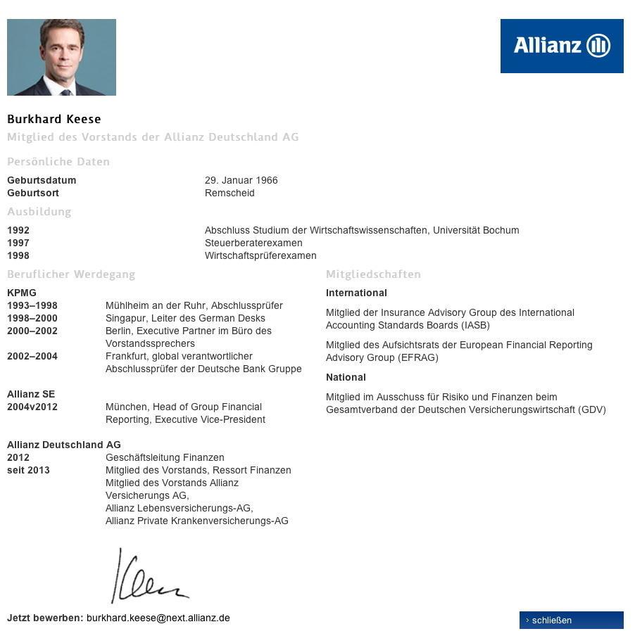 darber - Allianz Bewerbung