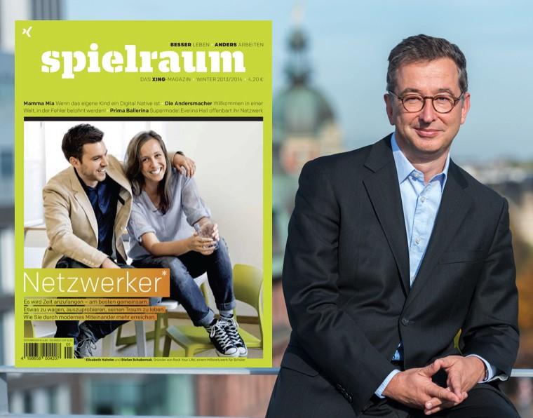 """XING CEO Vollmoeller über das neue Printmagazin(!) """"spielraum"""""""