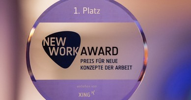 Begehrte Auszeichnung: der New Work Award von XING.
