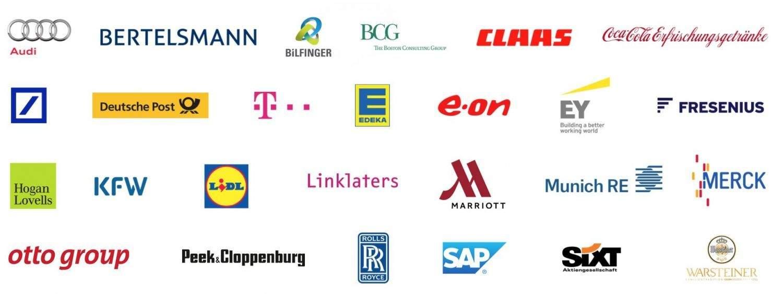 Medienfabrik embrace Kundenportfolio Stand 2015 (Auswahl).