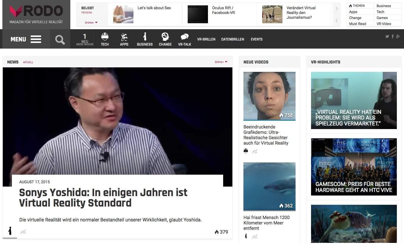 vrodo.de: lesenswertes Online Magazin rund um Virtual Reality.