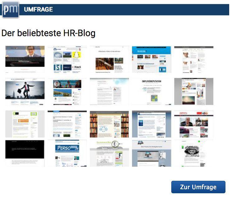 Hier klicken, um den beliebtesten HR Blog 2015 zu wählen.