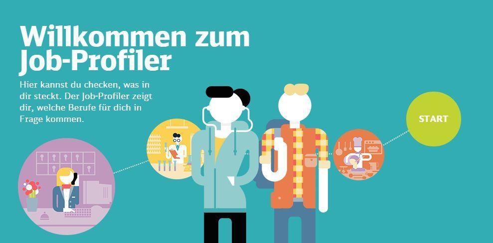 Begrüßung im Deutsche Bahn Job-Profiler.