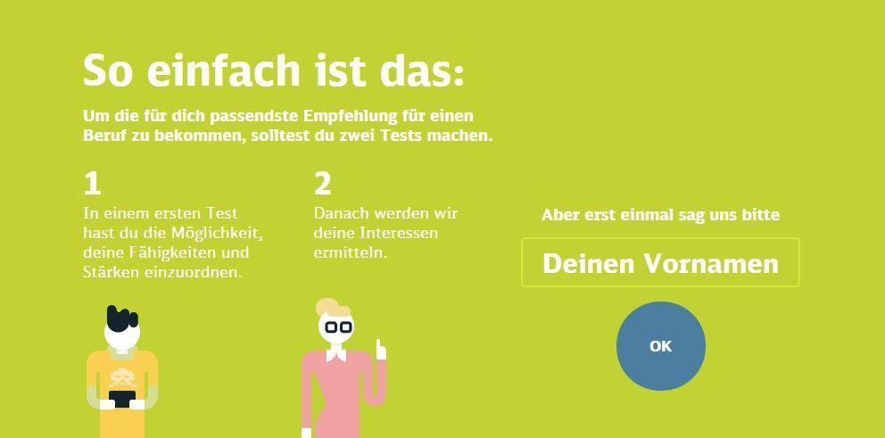 Erklärung der Vorgehensweise im Deutsche Bahn Job-Profiler.