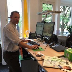 Jan Schüttler von Bayer bei #JOBTRAIL.