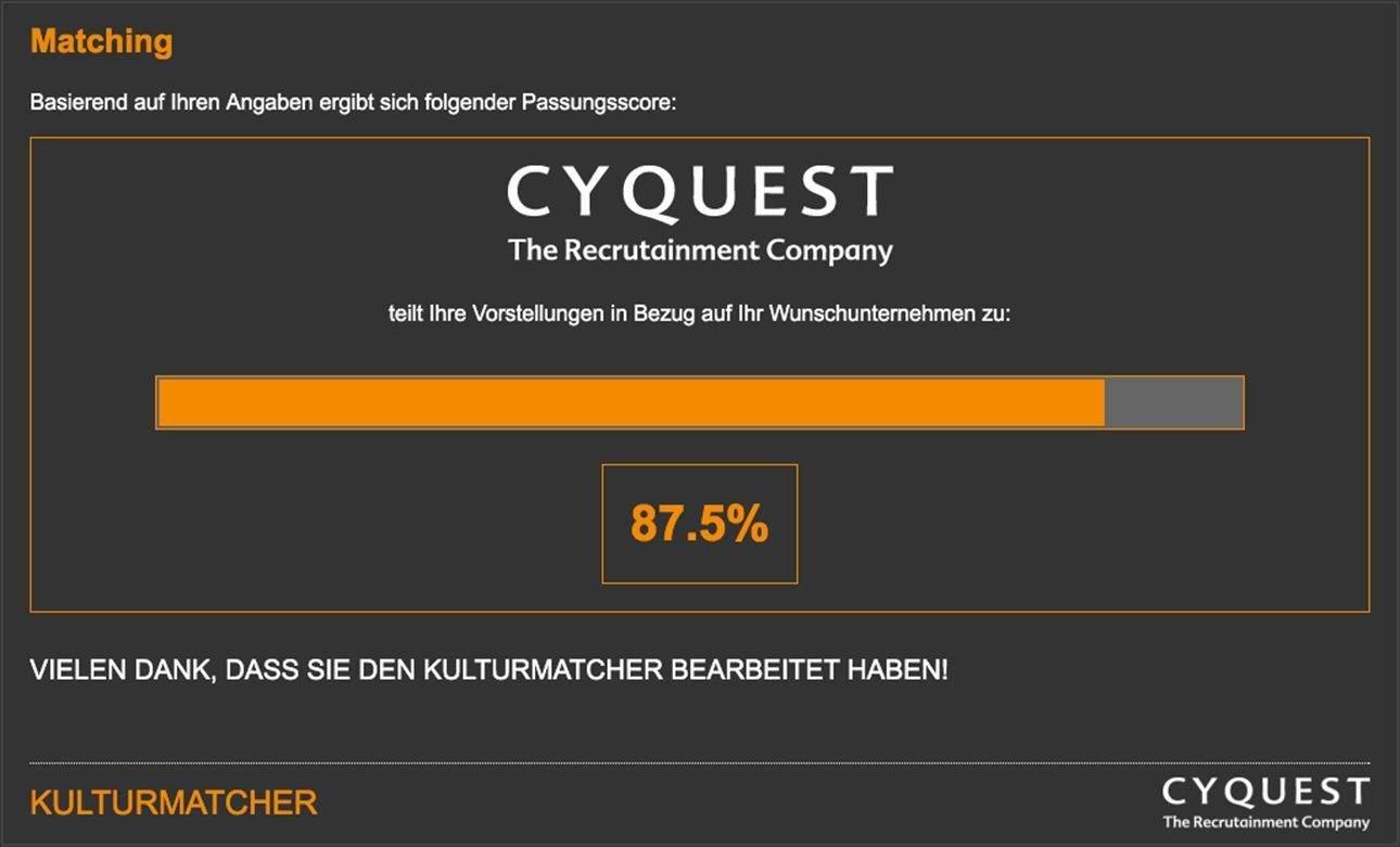 Matching-Ergebnis im Kulturmatcher.