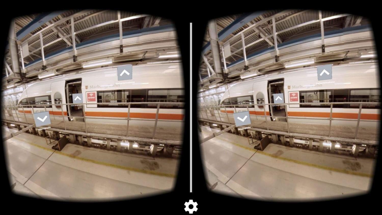 Blick durch die Virtual Reality Brille: muss man selbst erlebt haben!