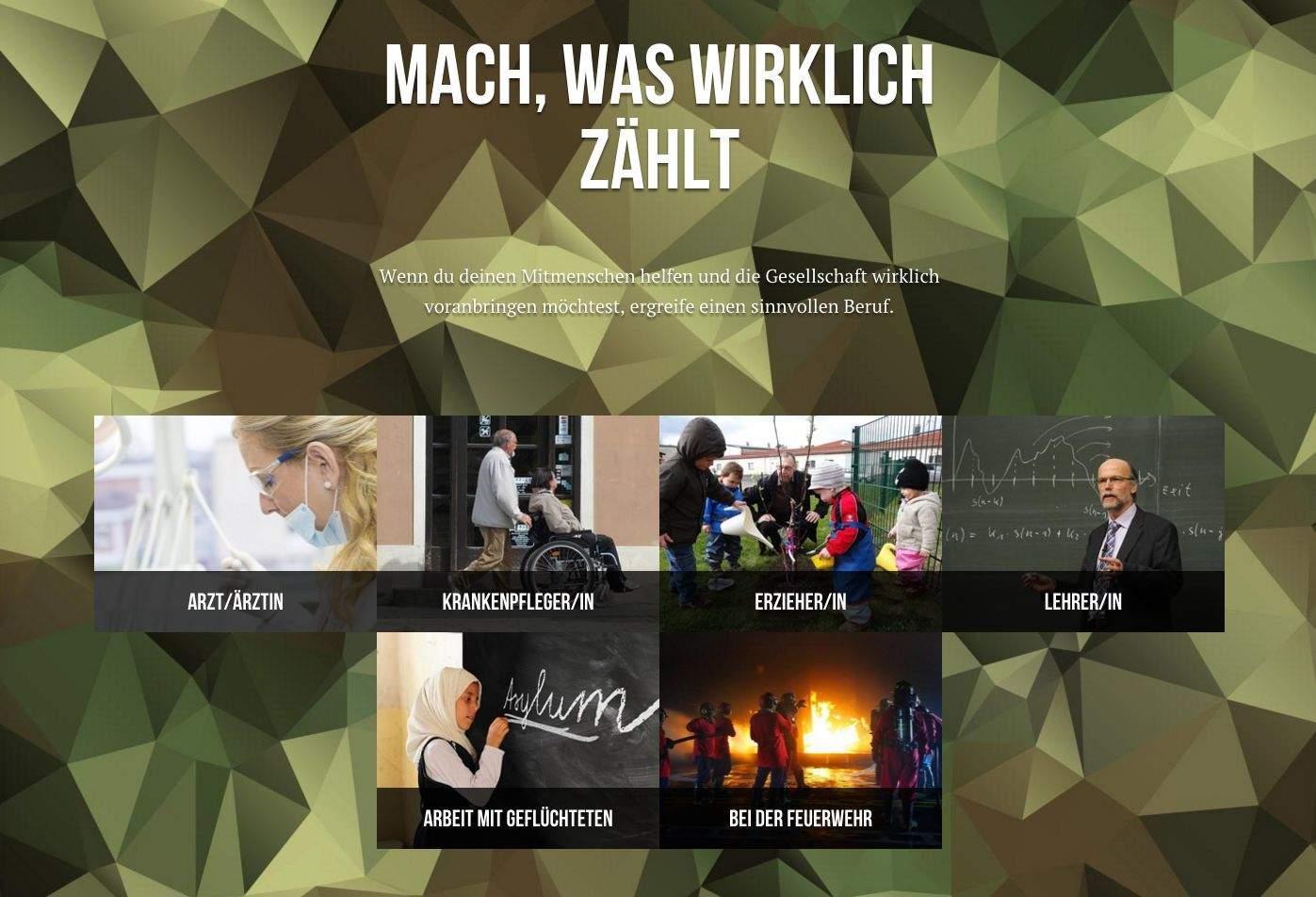 Bundeswehr Personalmarketing Gegenberufe