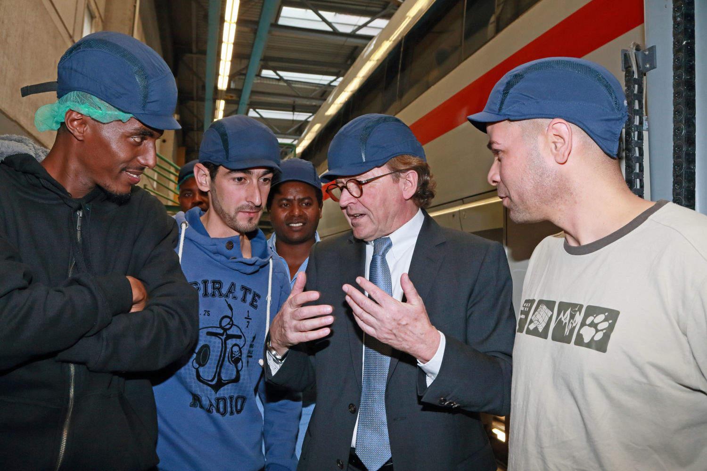 Pressekonferenz ICE-Werk München, Deutsche Bahn startet Programm zur Qualifizierung für erwachsene Flüchtlinge