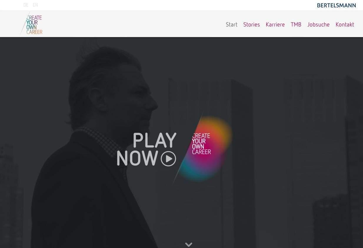 Employer Branding Video der Woche auf der Bertelsmann Karriereseite.