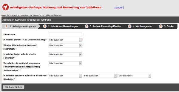 Nutzerbefragung für den Jobboersen-Kompass