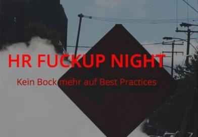 HR FUCKUP Night: 28.9. München