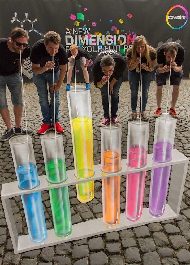 3D Malerei beim Hochschulmarketing von Covestro.