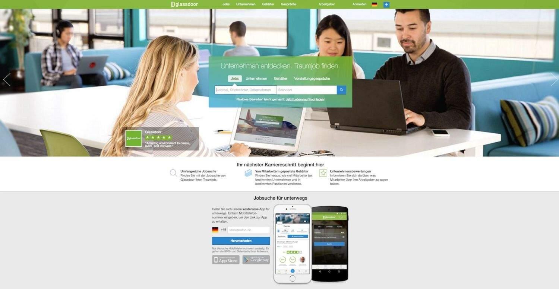 Glassdoor.de Screenshot
