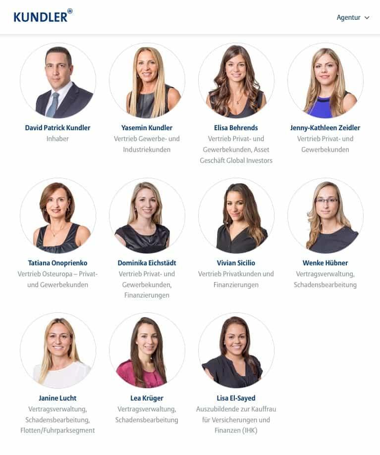 Das Team der Allianz Generalvertretung Kundler. Bildquelle: Kundler-Website