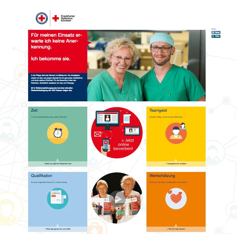 Employer Branding für Pflegekräfte: Microsite für BewerberInnen