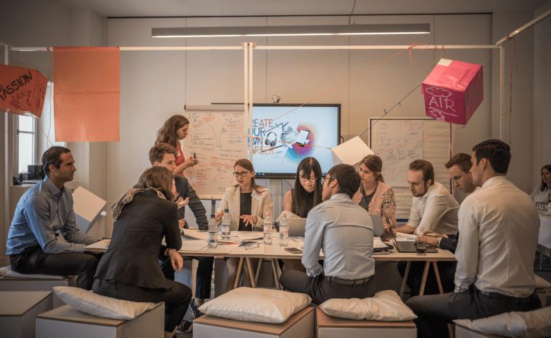 Entwicklung von Geschäftsideen bei Talent Meets Bertelsmann