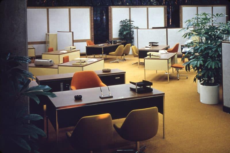 Arbeitswelt der Zukunft Das Office in den 70er Jahren - Copyright Steelcase