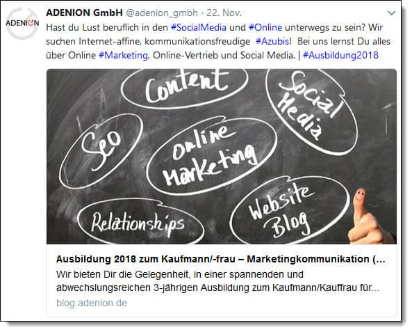 Fehler im Social Media Recruiting - Kreativer Content