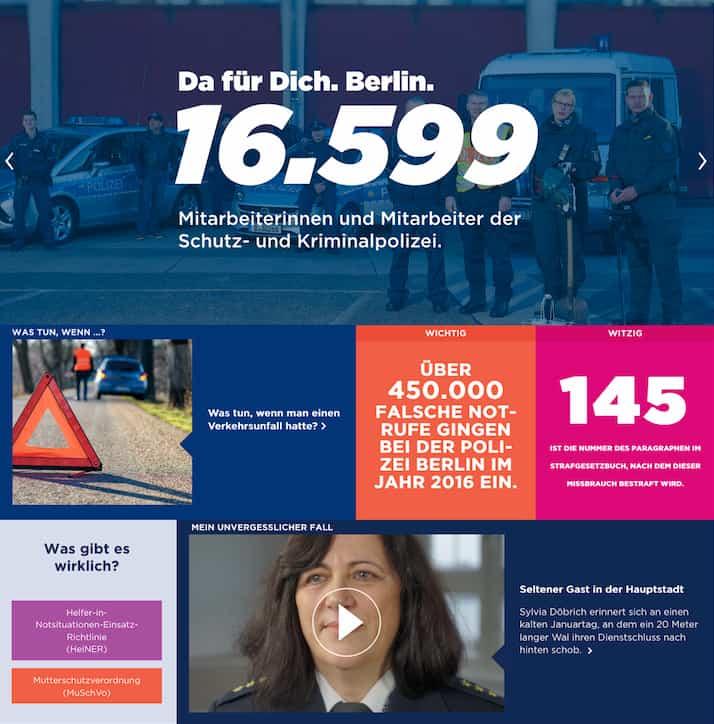 """Polizei Berlin mit """"Da für Dich"""" Karriere-Website"""