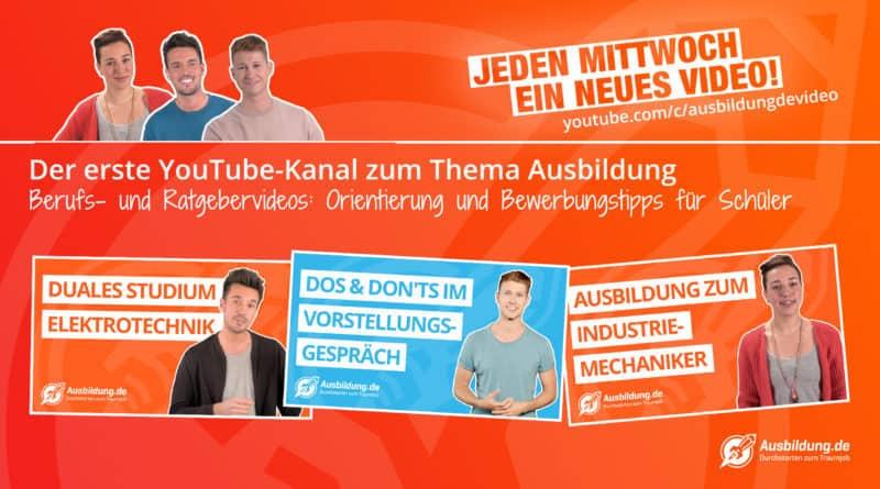 Der neue Ausbildung.de YouTube Kanal