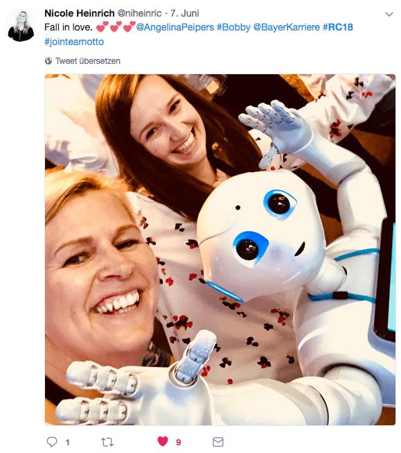 #RC18: Bayer Roboter Bobby zieht alle in seinen Bann