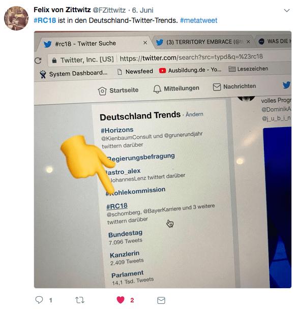 #RC18 Trending