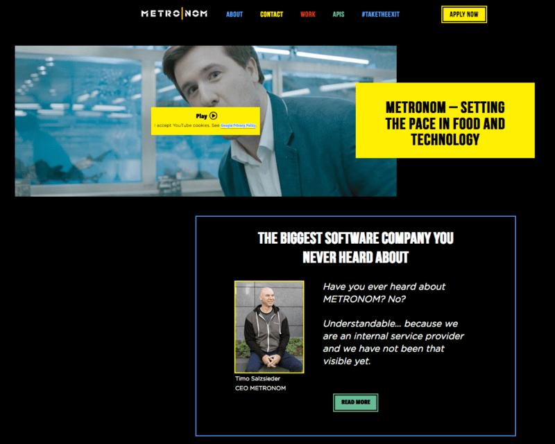 Die METRONOM Karriereseite