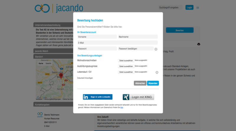 jacando - one click application