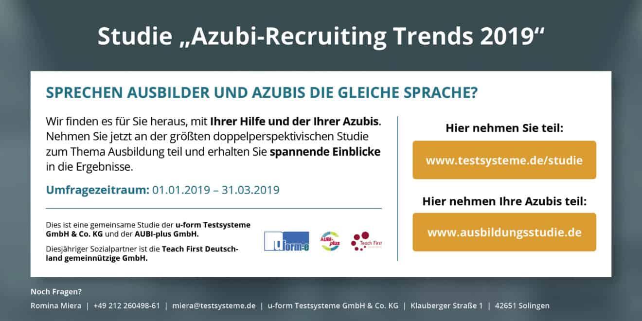 Azubi Recruiting Trends 2019 - erste Ergebnisse