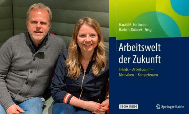 Barbara Kolocek und Harald Fortmann, Herausgeber von ARBEITSWELT DER ZUKUNFT