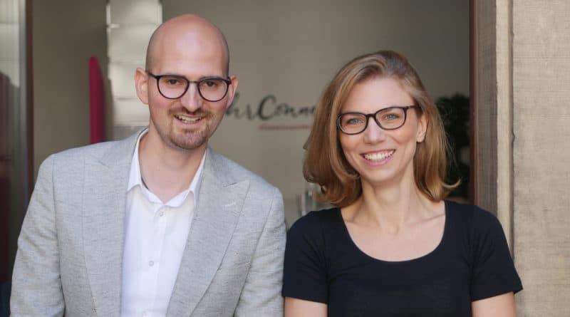 Yves Scheffold und Sophia Röpke von hrConnectum