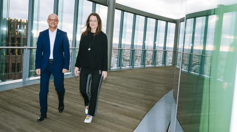 Martin Seiler und Kerstin Wagner von der Deutschen Bahn Foto Henning Ross
