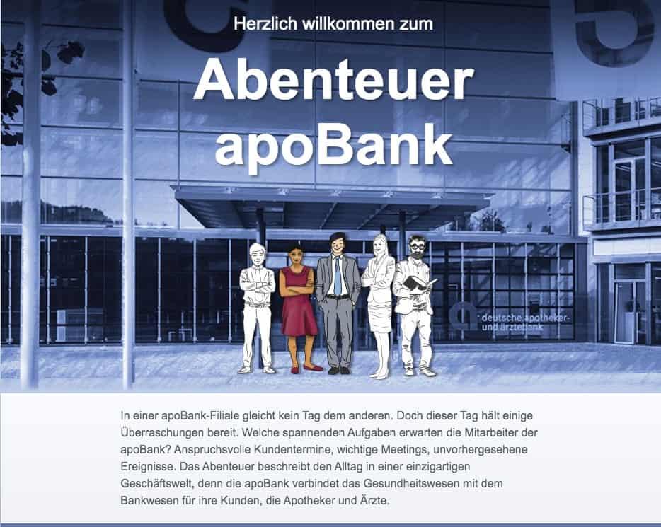 Cooles Ausbildungsmarketing von der Apo Bank