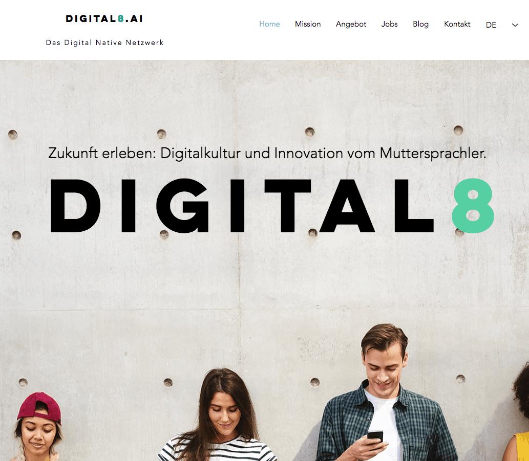 Hier geht's zu Digital8.ai