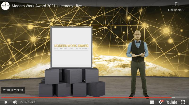 Modern Work Award 2021 moderiert von Nils Schnell SAATKORN