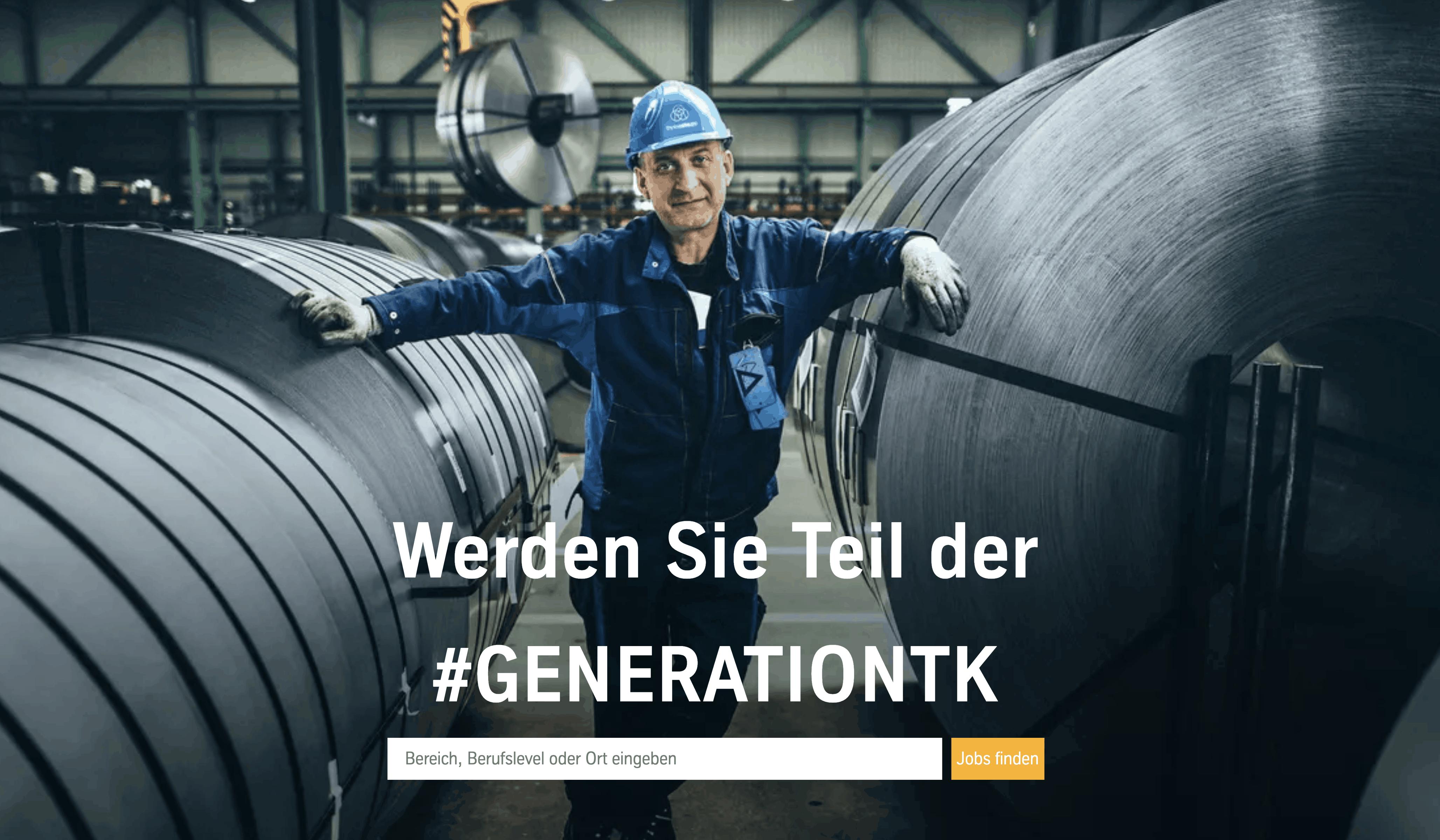 thyssenkrupp #generationtk website employer branding bei thyssenkrupp