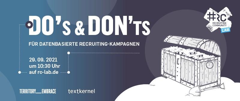 #RC Lab Datenbasierte Recruiting-Kampagnen textkernel TERRITORY Embrace